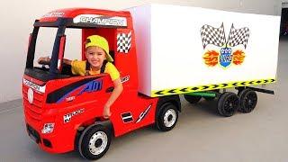 Nikita ride on toy truck servicio de entrega de juegos