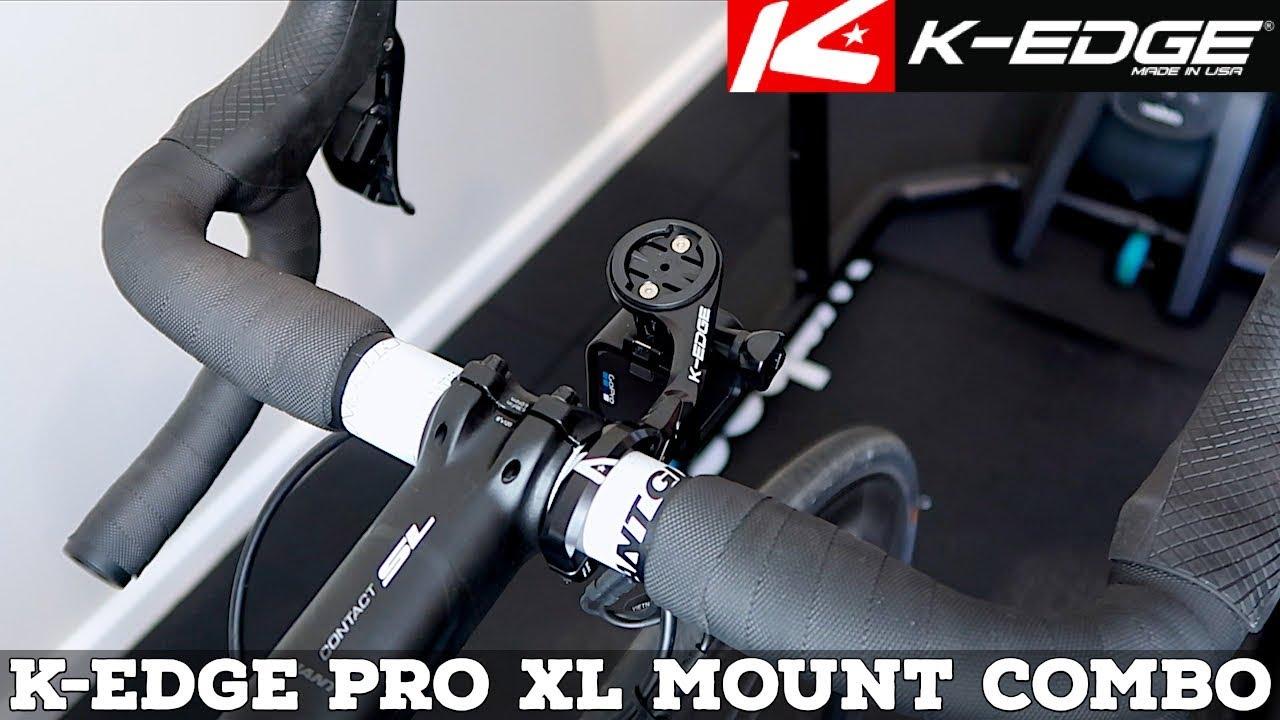 K-EDGE Combo Mount Adaptor for K-Edge Garmin Mounts and Cameras Black