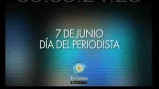TV Pública: Saludo en el Día del Periodista