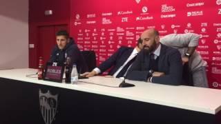 """Rueda de prensa de Jovetic con el Sevilla: """"Acepté porque es un gran club que juega la Champions"""""""