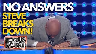 STEVE HARVEY BREAKS DOWN LAUGHING...When NOONE Has An Answer On Family Feud USA
