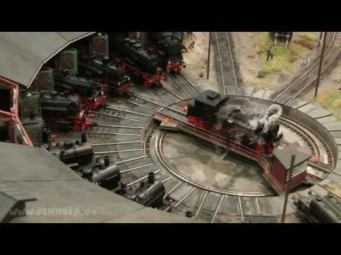 Modelleisenbahn Deutsche Reichsbahn mit Bahnbetriebswerk Belgard im Weltkrieg
