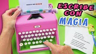 MAQUINA DE ESCRIBIR MAGICA - Escribe Mensajes de Amor con Magia | Manualidades aPasos