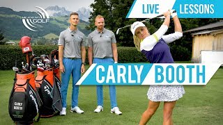 Live Lesson With CARLY BOOTH | ME AND MY GOLF