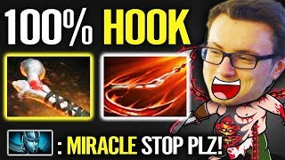 PUDGE Mid is BACK!!! - Miracle 100% Hook 200IQ Build Dota 2