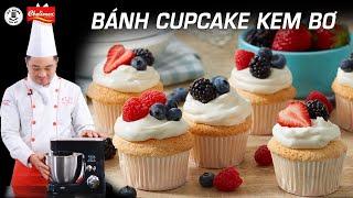 Cách làm Bánh Cupcake kem bơ ngon và dễ làm | Kỹ Năng Vào Bếp