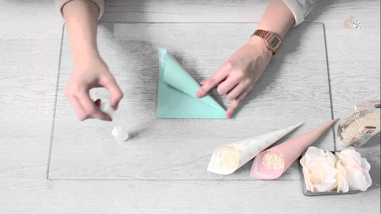 Tutorial c mo montar conos de arroz o p talos youtube for Como puedo hacer un cono