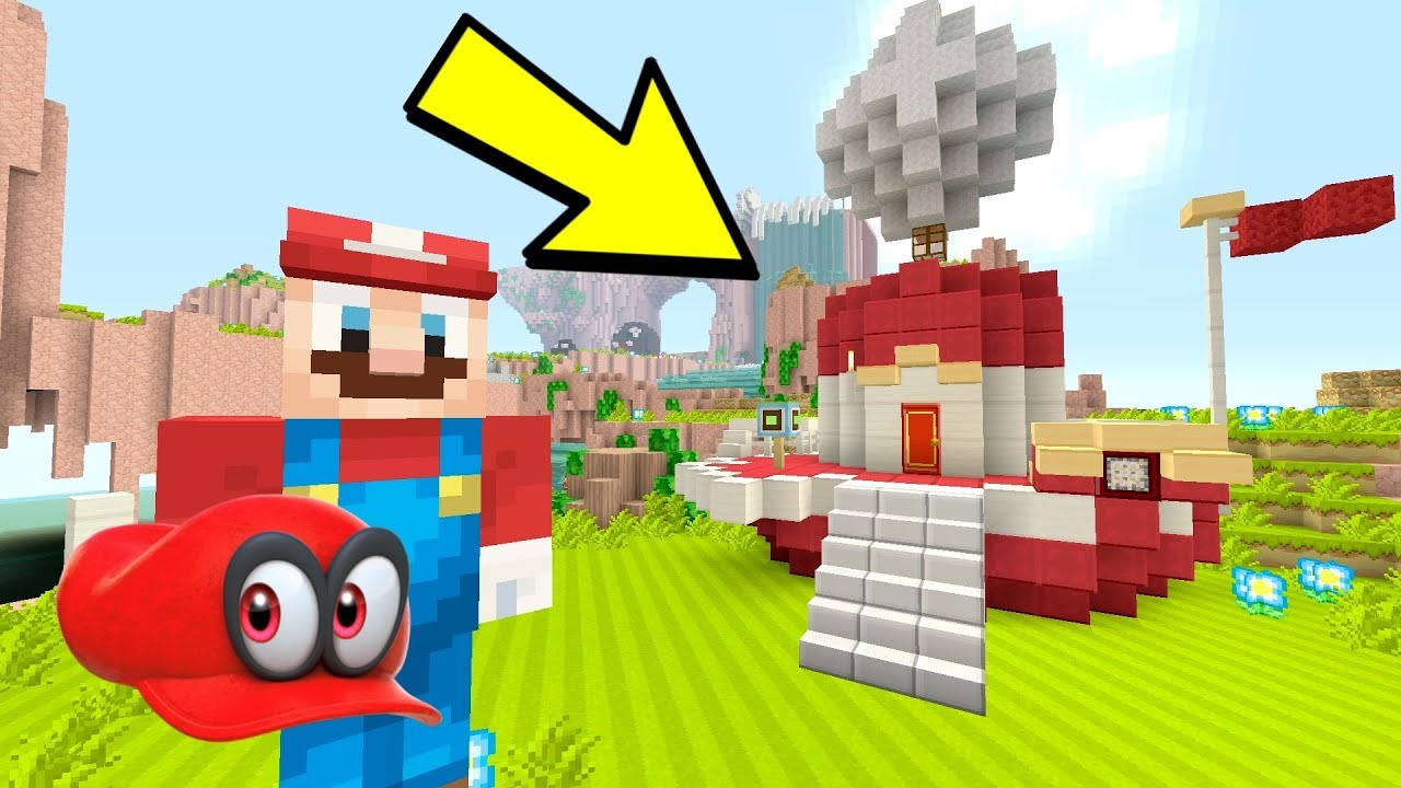 Minecraft Switch - HOW TO BUILD THE ODYSSEY SHIP [ MARIO ODYSSEY]