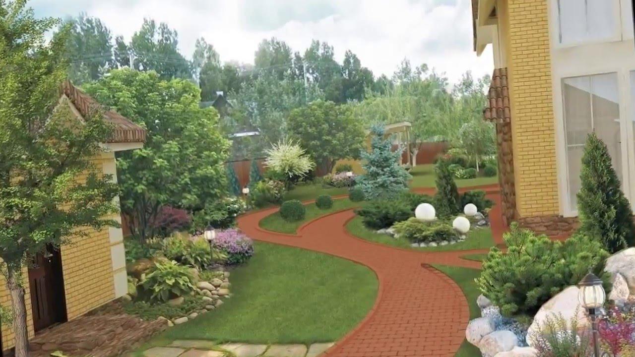 ландшафтный дизайн загородного дома реальные фото 3