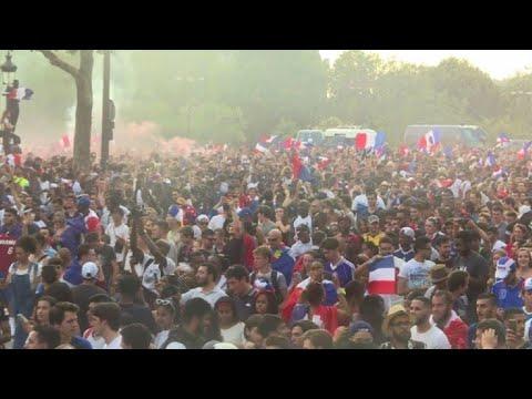Parisians celebrate World Cup win on the Champs-Elysées (3)