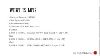 Forex For Beginners Part 5 - What is Lot? Micro, mini, and Standard Account