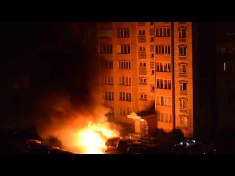 В Иваново сгорели автомобили