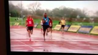 Anthony Joshua wins 100m (11.53s) Superstars 2012