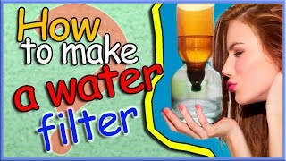 how to make a water filter from a plastic bottle