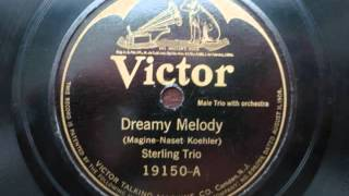 Sterling Trio - Dreamy Melody {1923} {Vocal Refrain}