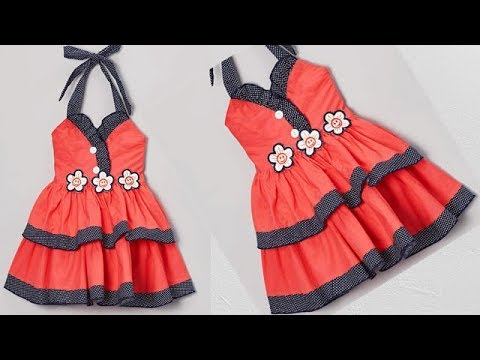 eb87fb34d674 Diy Designer Baby Frock Cutting And Stitching Full Tutorial - YouTube