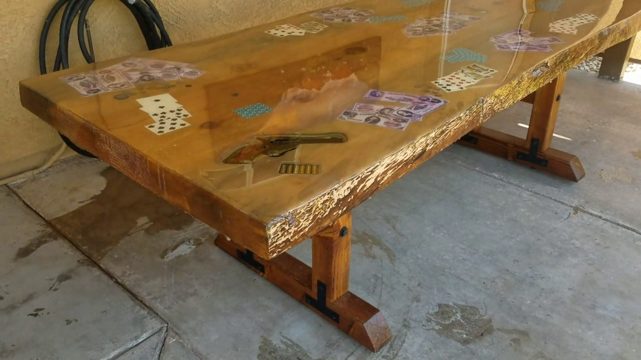 Epoxy resin table youtube - Table resine epoxy ...