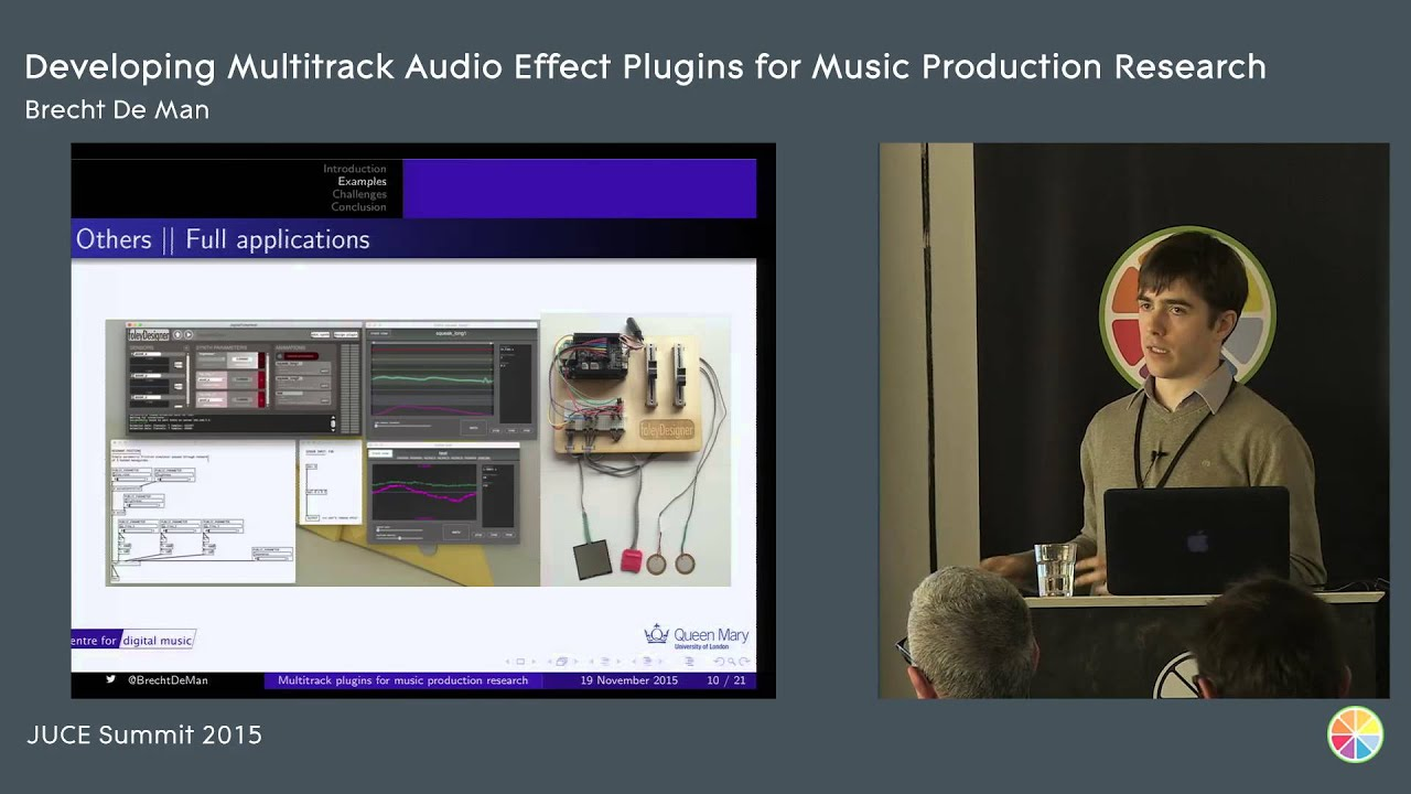 Developing multitrack audio effect plugins for music production, Brecht De  Man, JUCE Summit 2015