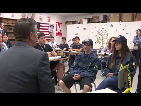 FBI agents teach class at Cypress Bay High School