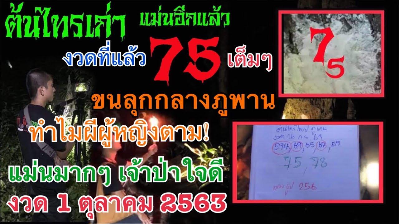 ต้นไทรเก่า แม่นอีกแล้ว ครั้งก่อน 75 เต็มๆ วันนี้เจ้าที่เปิดทาง 3 ตัว งวด 1 ตุลาคม 2563 อยากรวยตามมา