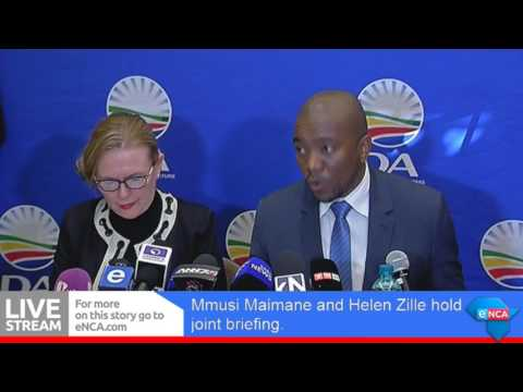 Maimane and Zille holdjointbriefing