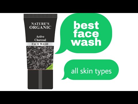 Nature's organic active charcoal face wash review in bengali