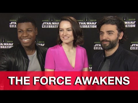 Oscar Isaac, Daisy Ridley & John Boyega Interview - Star Wars The Force Awakens