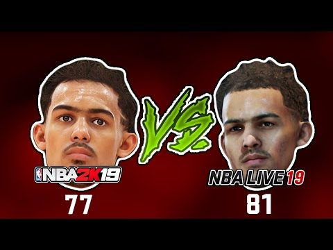 Are NBA Live 19's Ratings CRAZY Compared To NBA 2K19?
