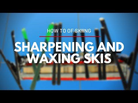 Sharpening And Waxing Skis