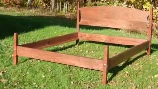 Cherry Shaker Bed Handmade In Vermont By Hawk Ridge Furniture