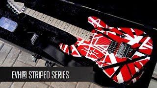 Обзор гитары EVH Striped Series Red with Black & White Stripes
