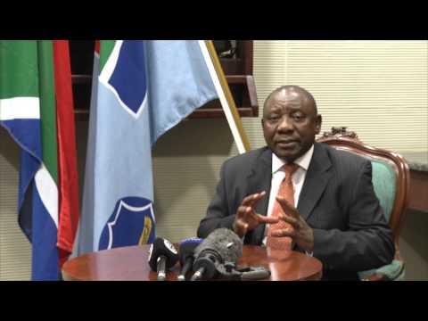 Deputy President Cyril Ramaphosa departs for France