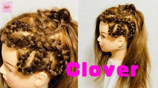 Four Leaf Clover Hair Braid Tutorial 🍀