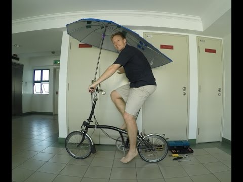 Umbrella for bicycle, Kuala Lumpur, Malaysia