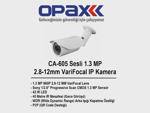 CA-605 Sesli 1.3 MP 2.8-12mm VariFocal Lens IP Kamera