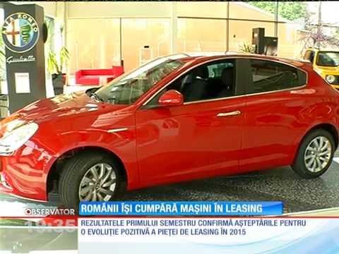 Românii au început din nou să îşi cumpere maşini în leasing