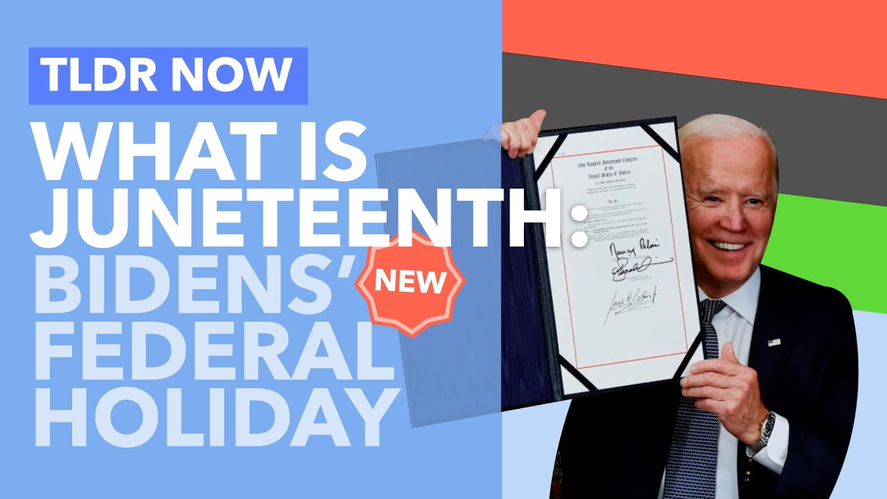 What is Juneteenth? Biden's New Federal Holiday Explained - TLDR News