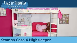 Stompa Casa 4 Highsleeper Bed - Charlies Bedroom