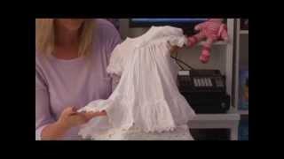Girls Christening Dress White Cotton Sweet Ella