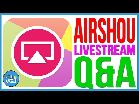 Airshou is Down! Livestream Q&A. How to Record your iPhone or iPad Screen