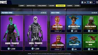 *NEW* FORTNITE ITEM SHOP COUNTDOWN December 23rd! Brand New Christmas Skins (Fortnite Battle Royale)
