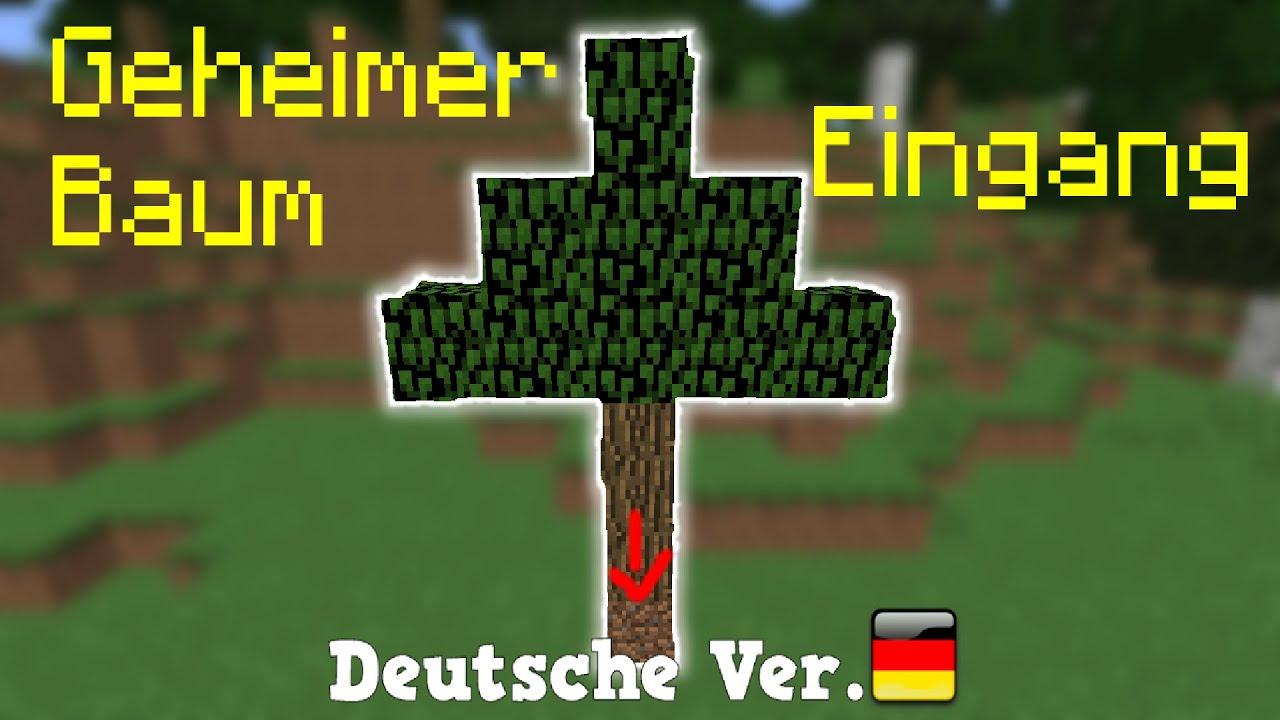 Minecraft - Geheimer Baum-Eingang [GER] - YouTube