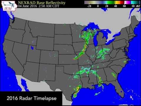 2016 U.S. Radar Time Lapse - Whole Year