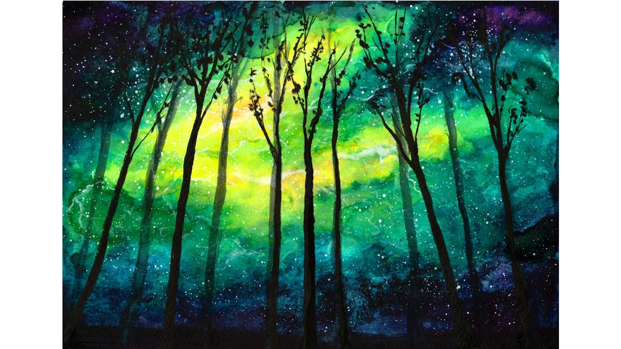Aurora [Watercolor Speed Painting] - YouTube