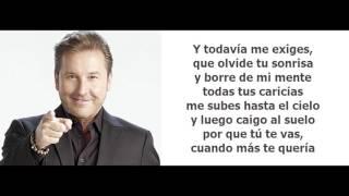 Ricardo Montaner - Te Hubieras Ido Antes (Letra)