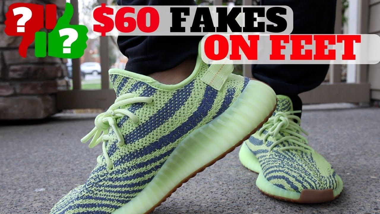 How Do $60 FAKE YEEZYS Feel ON FEET