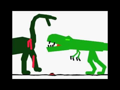 Stykz T-Rex Vs Sauropod