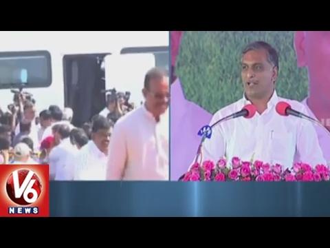 Minister Harish Rao Speech | Inauguration Of Bhakta Ramadasu Project | Khammam | V6 News