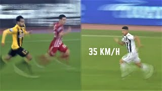 Fastest Sprint Speeds In Greek Football