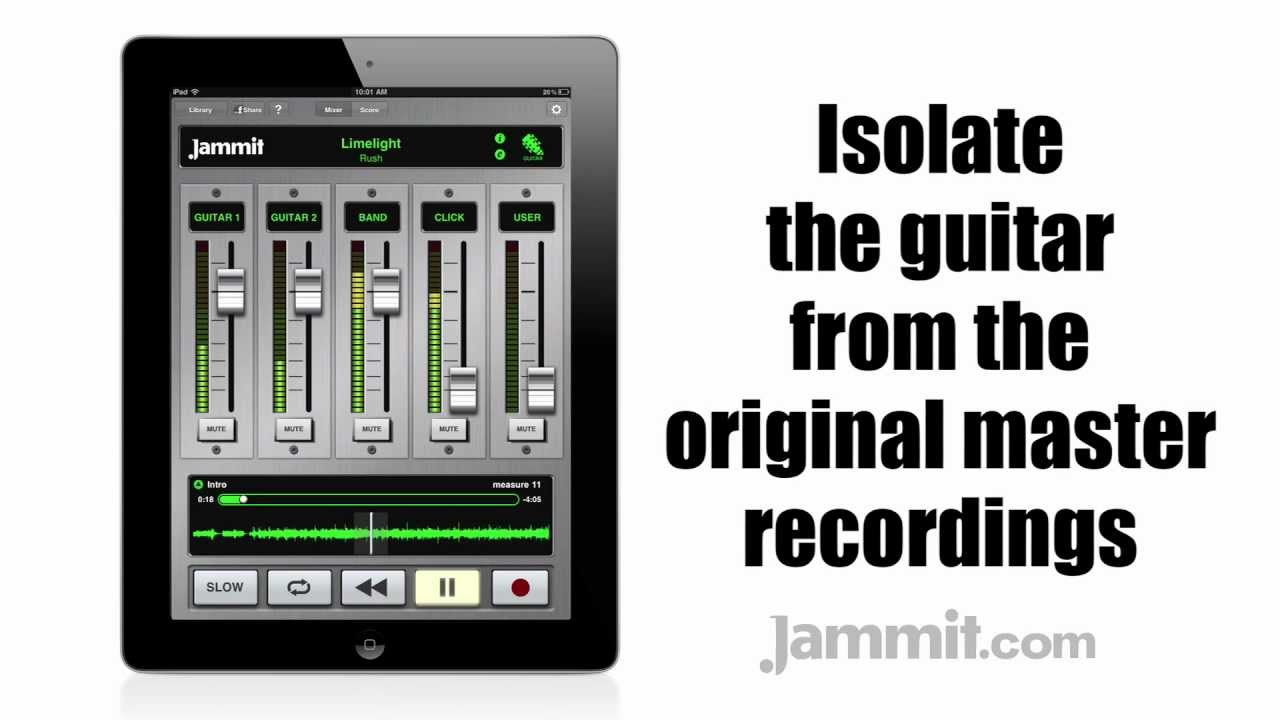 Jammit Lets Budding Rock Stars Play Along With, Isolate, And